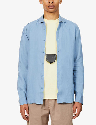 Orlebar Brown Giles tailored-fit collared linen shirt