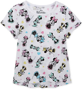 DISNEY MINNIE MOUSE Disney Girls Round Neck Short Sleeve Minnie Mouse Graphic T-Shirt - Preschool / Big Kid
