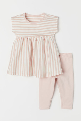 H&M Dress and Leggings - Pink