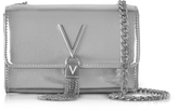 Valentino by Mario Valentino Diva Mini Silver Eco-Leather Shoulder Bag
