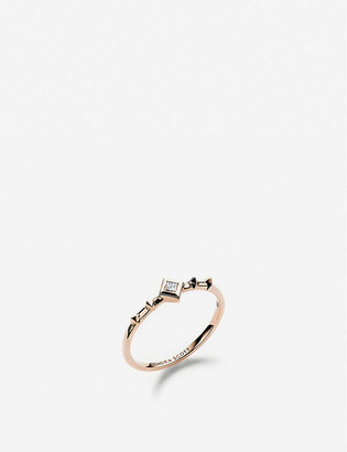 Kendra Scott Wave 14ct rose-gold and diamond ring