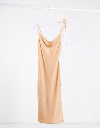 Lola May satin cami maxi dress