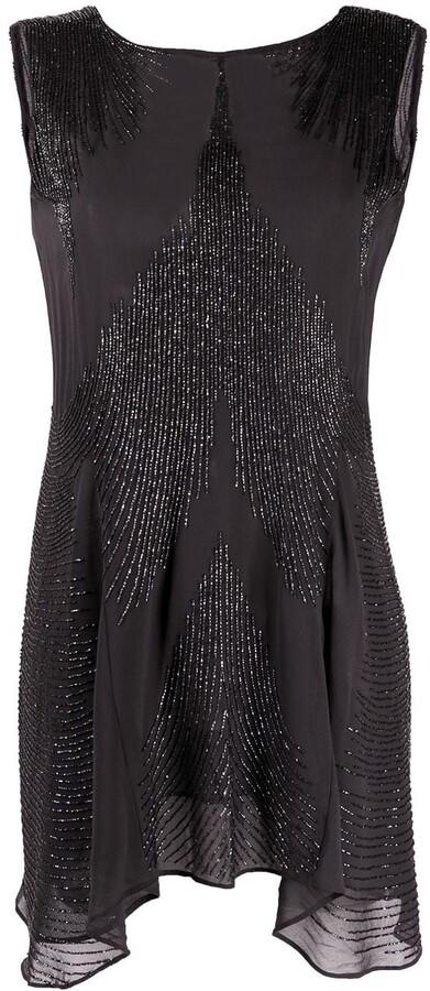 P.A.R.O.S.H. Bead-Embellished Mini Dress