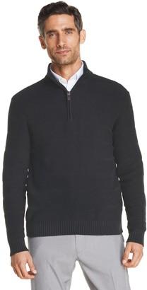 Izod Men's Rugby Quarter-Zip Sweater