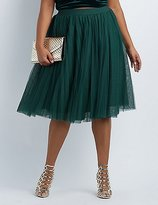 Charlotte Russe Plus Size Tulle Midi Skirt