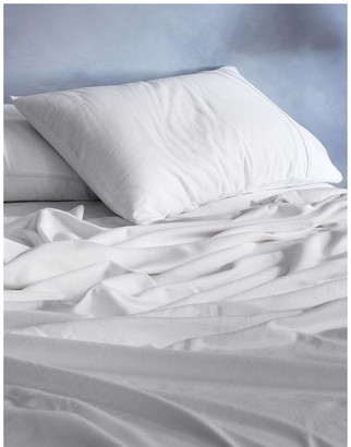 Sheridan Flannelette Plain Dyes Sheet Set in White
