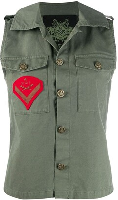 Mr & Mrs Italy Sleeveless Army Jacket