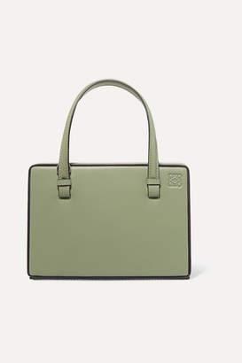 Loewe Postal Small Leather Tote - Green