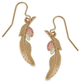 Zales Black Hills Gold Feather Drop Earrings