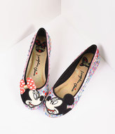 Irregular Choice Silver & Multicolor Why Hello Mickey & Minnie Flats Shoes
