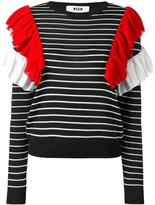 MSGM ruffle striped jumper
