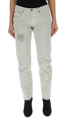 Saint Laurent Ripped Boyfriend Jeans