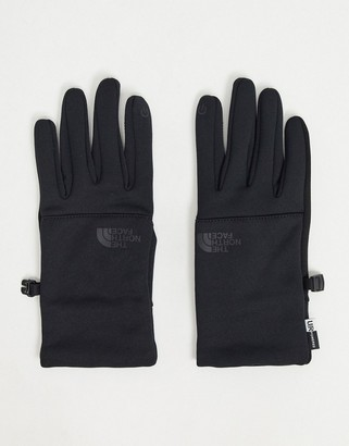 The North Face Etip recycled gloves in all black