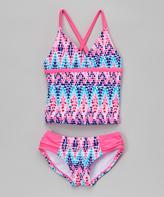 Kanu Surf Pink & Blue Candy Tankini - Infant, Toddler & Girls
