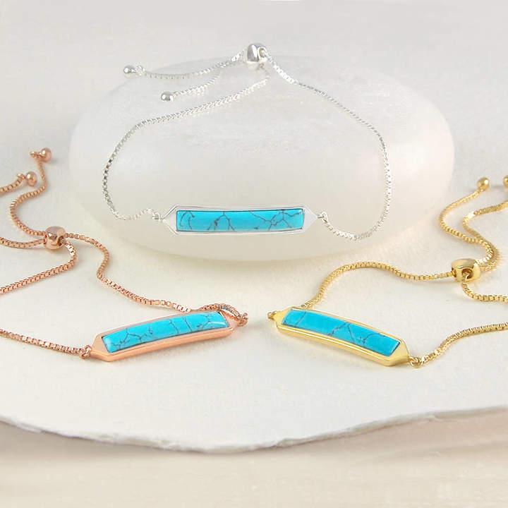 8c1e3e395551e Jaxon Turquoise December Birthstone Bar Friendship Bracelets