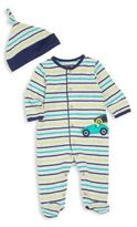 Offspring Baby's Two-Piece Footie & Hat Set