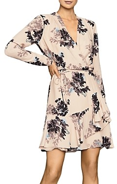 Reiss Anja Ruffled Wrap Dress