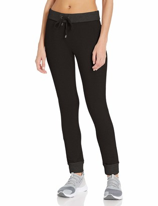 Andrew Marc Women's Long Jogger W/Stripe Thermal Rollover Waistband