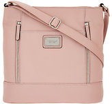 Tignanello Pebble Leather Large RFID Crossbody with Front Zips