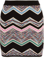 Missoni Zigzag Wool-blend Mini Skirt - Lilac