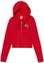 PINK University Of Nevada Las Vegas Varsity Cropped Half-Zip Hoodie
