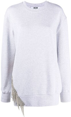 MSGM Crystal Trim Sweatshirt