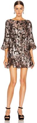 Saloni Marissa Mini C Dress in Rose Purl | FWRD