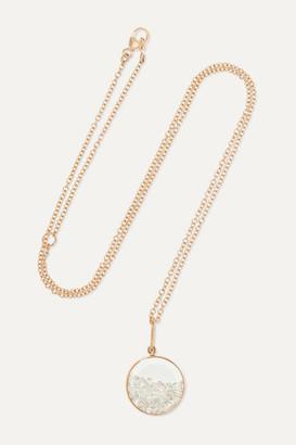 Moritz Glik 18-karat Rose Gold, Sapphire Crystal And Diamond Necklace - one size