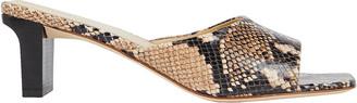 AEYDĒ Katti Embossed Slide Sandals