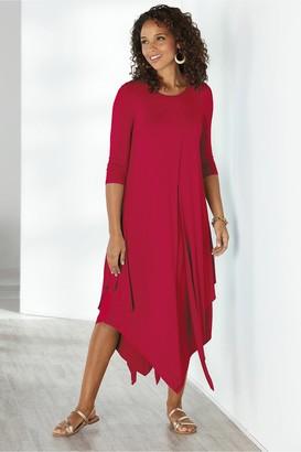 Soft Surroundings Alexandra 3/4 Sleeve Dress