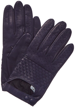 Portolano Women's Royal Silk-Lined Leather Gloves