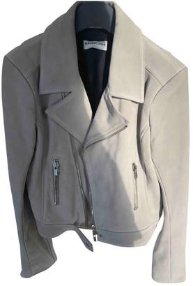 Balenciaga Beige Leather Jackets
