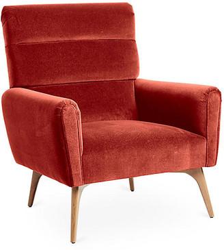 Kim Salmela Devon Accent Chair - Cinnabar Velvet