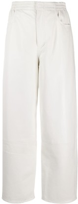 MM6 MAISON MARGIELA High Waisted Leather Trousers