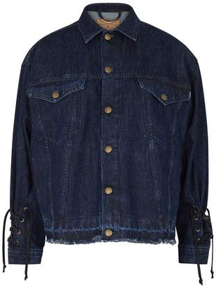 McQ Blue Lace-up Denim Jacket