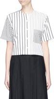 Thom Browne Mix stripe cropped shirt