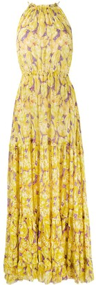 Missoni Floral Silk Tiered Maxi Dress