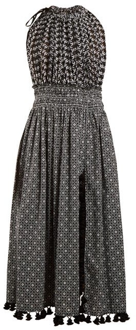 Altuzarra Vivienne Broderie-anglaise Gathered Dress - Womens - Black Print