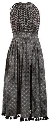 Altuzarra Vivienne Broderie-anglaise Gathered Dress - Womens - Black Print