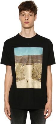 Marcelo Burlon County of Milan Ostrich Printed Cotton Jersey T-Shirt