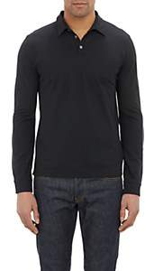 Zanone Men's Slub Polo Shirt - Black