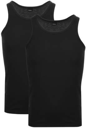 HUGO BOSS Boss Business Double Pack Vest T Shirts Black