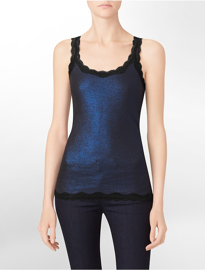 Calvin Klein Lace Trim Tank Top