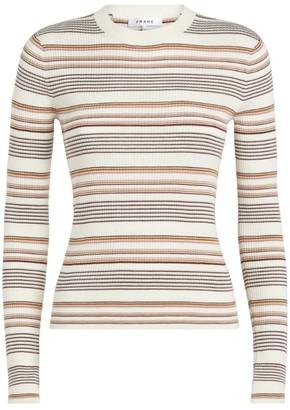 Frame Wool-Blend Stripe Sweater