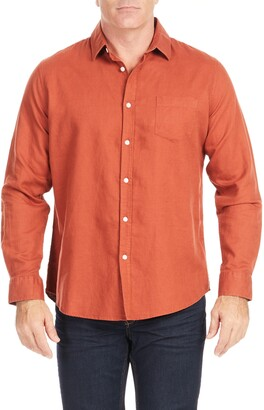 Johnny Bigg Anders Relaxed Fit Button-Up Linen & Cotton Shirt