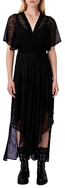 Maje Rachellim Eyelet Maxi Dress
