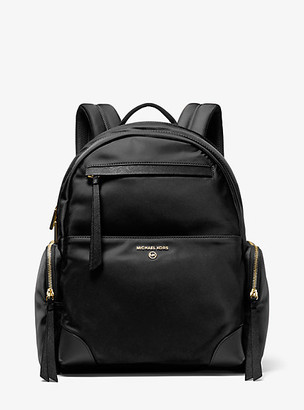 MICHAEL Michael Kors MK Prescott Large Nylon Gabardine Backpack - Black - Michael Kors