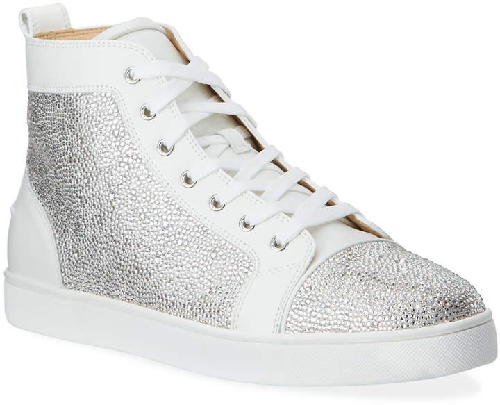 Men S Louis Crystal Red Sole Sneakers