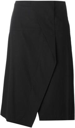 Crossover Front Asymmetric Skirt