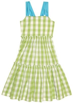 Il Gufo Gingham cotton dress